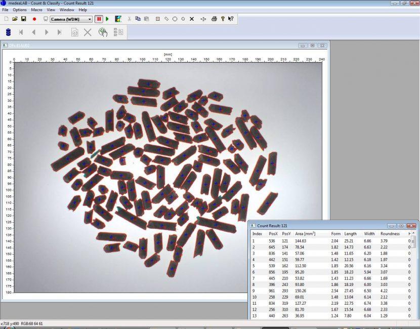 Holzpellets Auswertung Längenverteilung